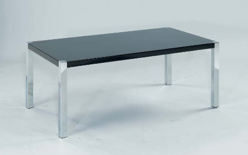 Novello Coffee Table in High Gloss Black and Chrome