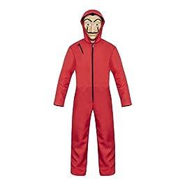 Cosplay Costume Rosso Scimmia Casa di Carta con Maschere Dali Halloween Costume Party per Bambini Adulti Unisex