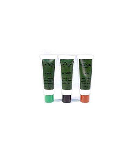 Miltec Crème Camouflage Tube 30g (x3) Adulte Unisexe, Marron/Vert/Noir, Taille Unique