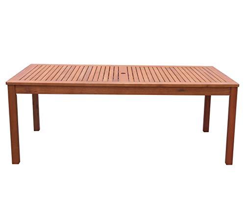 Gartenmöbel 17tlg mit 200cm Tisch Terrassenmöbel Santos Rubinrot - 5