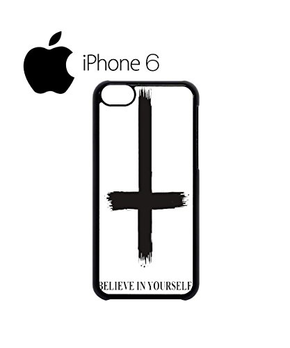Inverted Cross Beleive in Yourself Swag Mobile Phone Case Back Cover Hülle Weiß Schwarz for iPhone 6 White Weiß