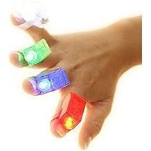 Whobabe Luz intermitente portátil Luz de dedo Juguetes para niños (multicolor)