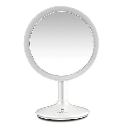 TOUCHBeauty TB-1676 Kosmetikspiegel LED Beleuchtet mit 10x Vergrößerung und Saugnapf, 180° Schwenkbar, Make-Up-Spiegel Schminkspiegel mit Blendfreier Beleuchtung für Zuhause und (Doppelseitige Beleuchteter Make-up-spiegel)
