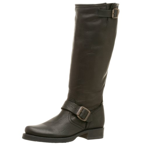 FRYE Women's Veronica Slouch Boot, Black Tumbled Full Grain Leather, 6.5 M US Black Tumbled Full Grain Leather-77605