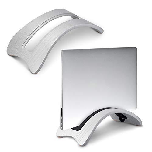 kalibri Laptop Ständer Notebook Stand - Halterung aus Holz 3X Silikoneinsatz für MacBook Air/Pro/Pro Retina/Tablet iPad - Eichenholz Silber Os X Macbook Pro Notebooks