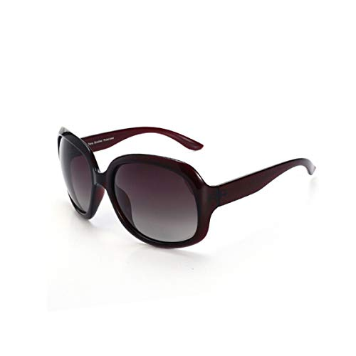 KEHUITONG Sonnenbrille, Damen polarisierte Sonnenbrille, Driving Mirror, große gerahmte Sonnenbrille, hohe Qualität, Hohe Qualität (Color : Brown)