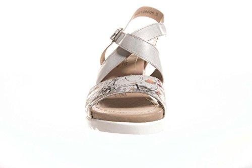 Remonte Madeira Womens Wedge Heel Sandalen Off White/drucken