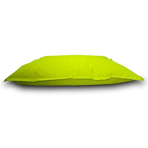 Pufmania Sitzsack Beanbag Doppelbett Polyester Wasserdicht für Außen 130x 100cm Pistazie