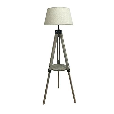 Floor light Nordic Sofa Solid Wood Coffee Table Floor Lamp,