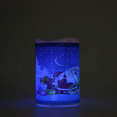 che flackernde flammenlose Wachskerzen Nachtlicht Xmas Decor Lichterkette Außen Innen Weihnachten LED Fenster Deko Party Garten Hochzeit String Fairy Licht (B) ()