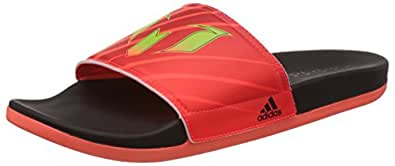 Adidas Men's Adilette Messi M Black, Red and Green Flip-Flops and House Slippers - 12 UK