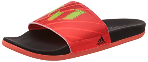 321ea02473c Adidas Mens Adilette Messi M Black Red And Green Flip Flops And House