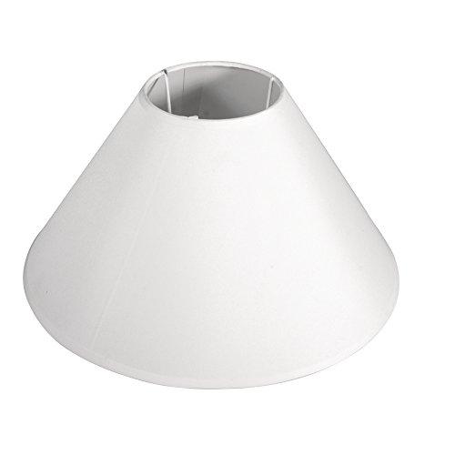RAYHER 2303102 Lampenschirm, rund, konisch, 30 cm Durchmesser unten, 10 cm Durchmesser oben, Höhe 19 cm, weiß