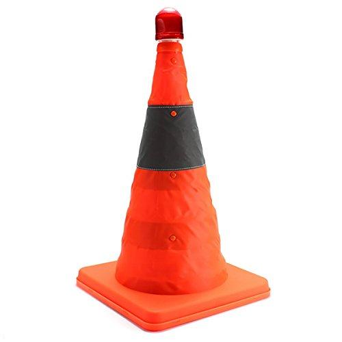 SAFETYON Warnkegel faltbar LED Leitkegel, Reflective Faltwarnkegel Sicherheitskegel, Safety Traffic Cones 45cm/ 17.7 in, orange orange