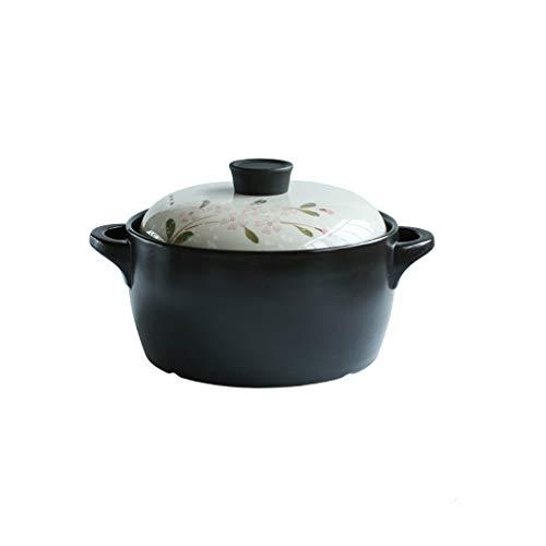 Zarlua Japanischer Stil Hochtemperaturbeständig Handgemalte Keramik Offene Flamme Suppentopf Eintopf Topf Stein Topf Auflauf Spodumen Keramik (größe : 4L)