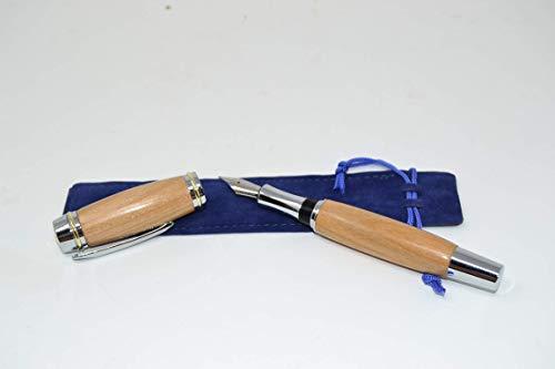 Holz Füllfeder Füller mit Schraubkappe Kirsche fountain pen Holz Walnuss Handarbeit Pen Geschenk Geschenkidee Unikat handmade -