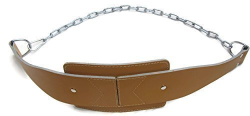 shihan-world-gym-dipping-belt-gold-m-4-leather-performance-with-heavy-duty-chain-shihan-fitness-powe
