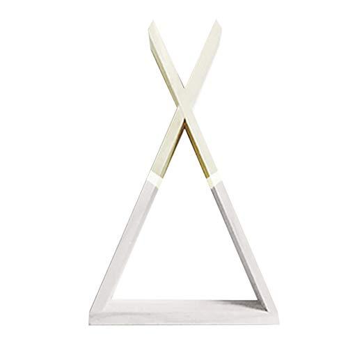 Fansi - Estantería Flotante Triangular de Madera para Colgar en la Pared,...