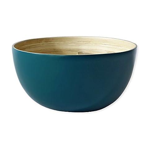 Saladier en bambou bleu 29cm - BAYA - Bruno Evrard