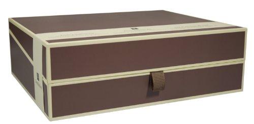Semikolon (352578) Dokumentenbox brown (braun) | Aufbewahrungs-Box für Dokumente im A4 Format | geräumige Box im Format 31,5 × 26 × 10 cm