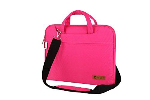 Onoper Laptoptasche Schutzhülle Wasserdicht Tasche Sleeve Hülle mit kleiner Tasche für Notebook Laptop Computer Ultrabook ,Microsoft Surface Book ,Macbook Air/ Pro Retina usw. (13-14 Zoll, pink)