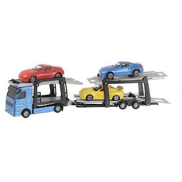 Teamsterz Autotransporter mit 3 Spielzeugautos 27 cm