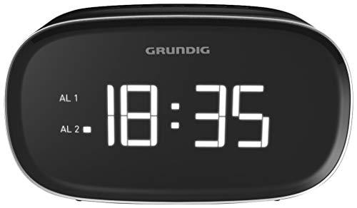 3000 Schwarz, Usb (Grundig Sonoclock 3000 Wecker Schwarz/USB-Ladefunktion/UKW-Tuner (FM/AM) / Weckfunktion/Sleep Funktion)