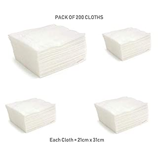UCTOP STORE 200 Disposable Micro Fibre Electrostatic Floor Cloths Flat Swivel Mop Multi Fitting Cleaning Wipes Fits Most Mops Like Swiffer Etc
