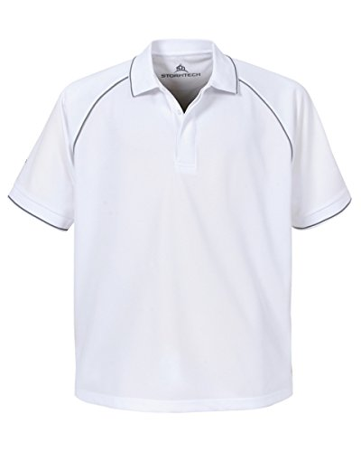 Stormtech Herren Mojave Coolmax Sport UV Wear Herren Polo-Shirts, Baumwolle, - White/IRON