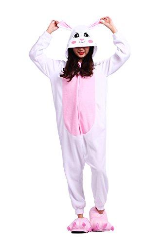 DarkCom Unisex Adult Cartoon Schlaf Anzüge Bunny Onesies Schlafanzug Cosplay Kostüme (Hinweis Charaktere Kostüme Halloween)