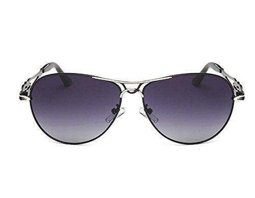 GZD nouvelle mode Lady Polarized Sunglasses Gradient Love You Black