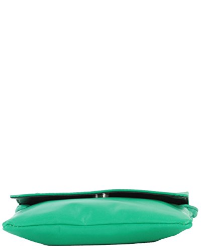 histoireDaccessoires - Pochette Pelle Donna - PO156034-L-Adelaide Verde-Verde