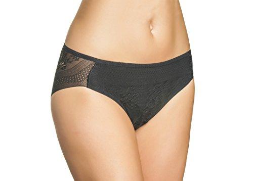 Bikini Braga Efecto Invisible Tul Bordado (M, Negro)