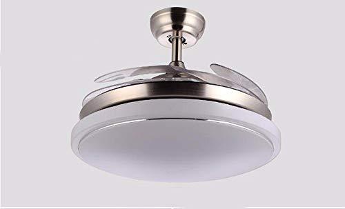 ZHANG NAN ● * Deckenventilator mit Lampe Schlafzimmer-Deckenventilator LED Die Variable Speed   Drive Stealth-Ventilator Lichtbeleuchtung Lampen und Laternen Durchmesser 91cm Dimmer-Fernbedienung ● -