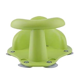SIRIGOGO New Baby Bath Tub Ring Non-Slip Toy Chair Play Frame Children Learn to Sit Safety Bath Shower Bath Can Be Sucked Seat Anti Slip for Newborn Baby Toddler Kids (Green)