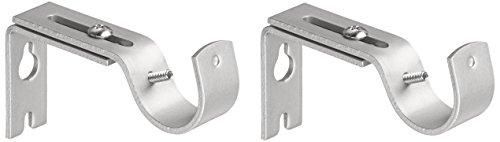 AmazonBasics - Set de 2 soportes ajustables de pared - Níquel