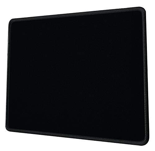 Silent Monsters Tapis de Souris Taille S (25 x 20 cm) Noir avec Bordure surpiquée Convient pour Office et Gaming Souris
