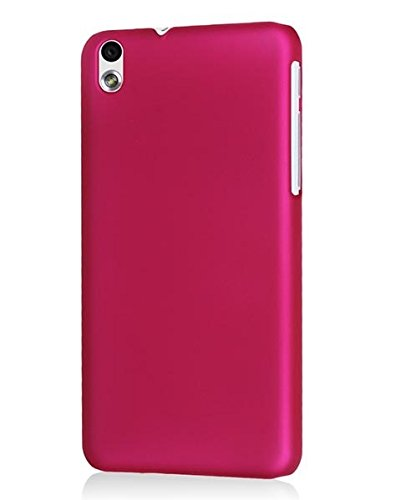 WOW Imagine(TM) Rubberised Matte Hard Case Back Cover For HTC DESIRE 816 / 816G (Pink)