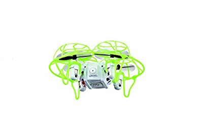 Carson 500507133 - X4 Quadcopter Nano Cage 2.4G 100% RTF Remote Controlled Flight Models, Ready to Fly, RC Quadcopter / Drone with Batteries and Remote Control, 100% Ready to Fly, 2.4 GHz