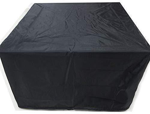 WYJW Outdoor Gartenmöbel Rattan Abdeckung Oxford Tuch Wasserdicht Staubdicht Cube Schwarz Outdoor Schutz Heavy Duty, 4 Größen (Farbe: Schwarz, Größe: 135X135X75cm)