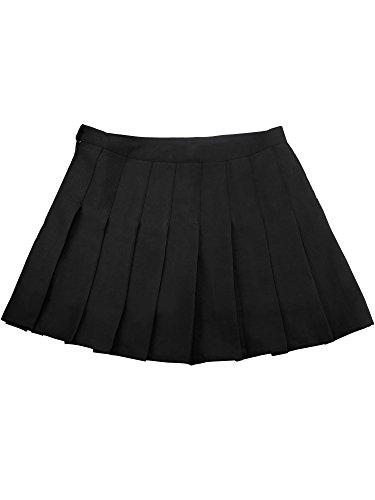 e Rock Mädchen Klassische Schuluniform Tanz Cosplay Kostüme Seitlichem Reißverschluss, Schwarz (L) (Schuluniform Tanz Kostüm)