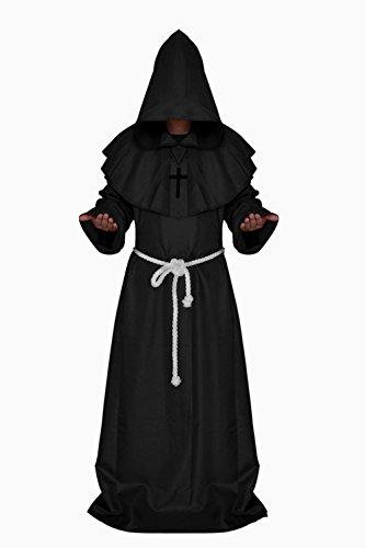 Halloween Umhang Mittelalter Mönche Rock Kostüm Cape (M, (Kostüme Jungen Für Allerheiligen)