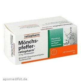 Moenchspfeffer Ratiopharm Filmtabletten 100St