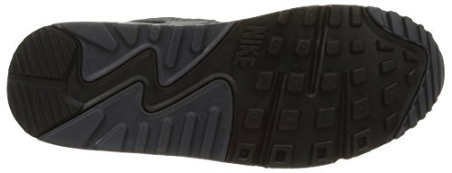 Nike Wmns Air Max 90 Lthr, Scarpe sportive, Donna Black/Mtlc Hematite-Drk Gry-Sl