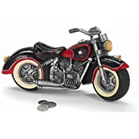 Preisvergleich für Black & Red Motorcycle Shaped Piggy Bank home decor by Burton & Burton