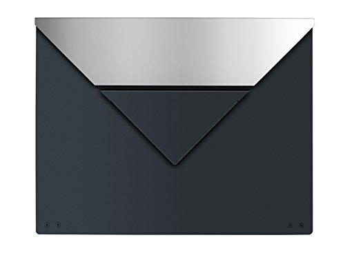 Frabox Design Briefkasten EVERE Anthrazitgrau / Edelstahl, ohne Zeitungsfach