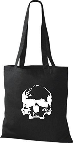 ShirtInStyle Stoffbeutel Skull Totenkopf Schädel diverse Farbe black