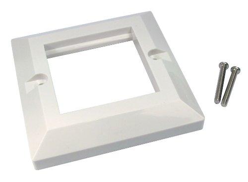 Unterputzdose 2 Port Doppelt 85 x 85 mm Bevelled Einzelne Fach Für RJ45 Modules Faceplate 2 Port, Single Gang