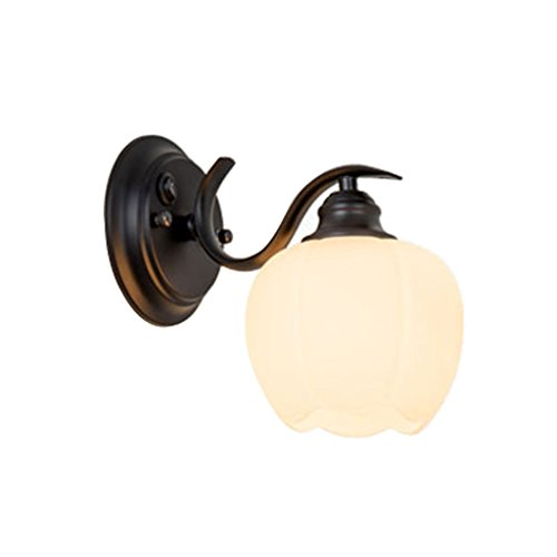 Xiao Jian- Moderne Schlafzimmer-Nachttischlampe - Schmiedeeiserne Treppenhaus-Flur-LED-Wandlampe/Augenschutz-Lampen-Wandlampe Wandlampe