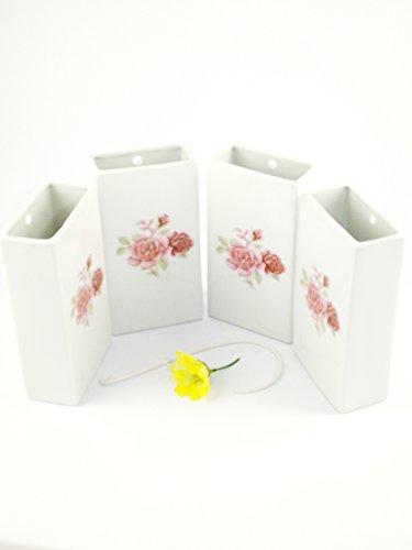 Abc_baño Humidificador de Porcelana Decorada Flor Rosa 4 Unidades